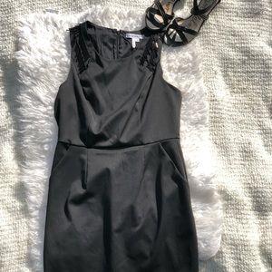 BCBGeneration Little Black Dress Racer Back Beaded